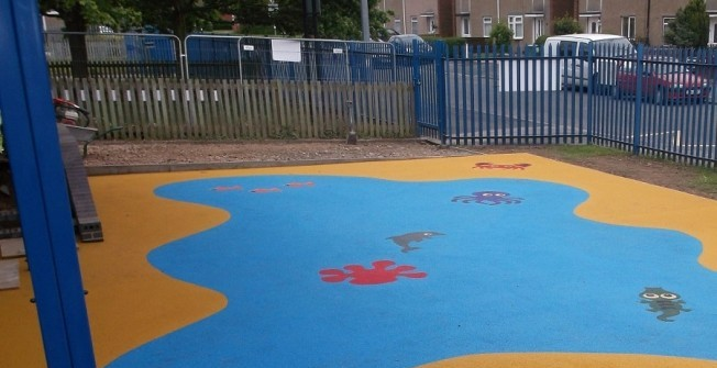 Playground Safety Surfacing in North Lanarkshire
