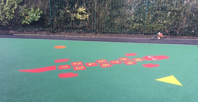 Wet Pour Graphic Installation in Warwickshire